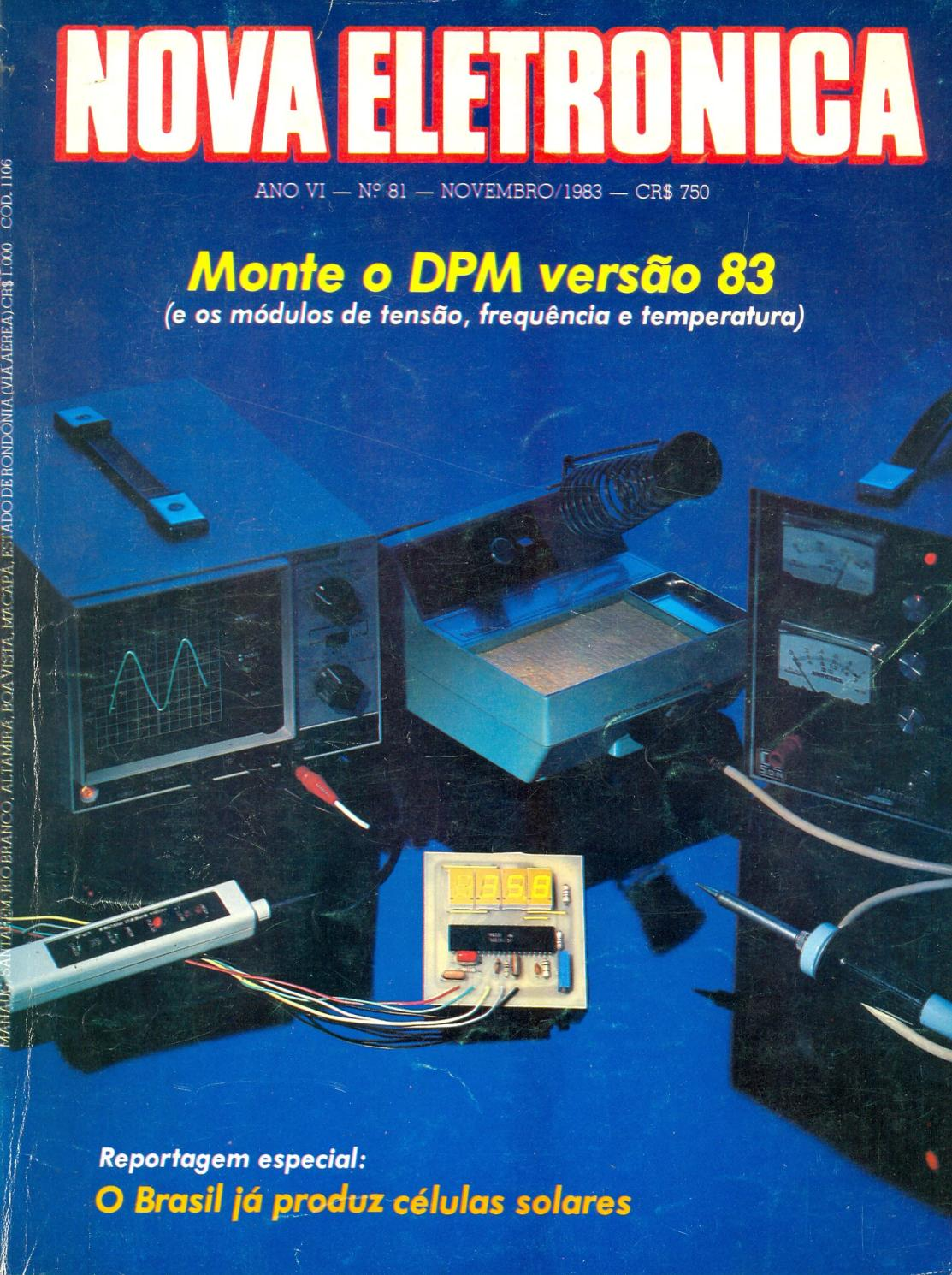 42a17a5ab NOVA ELETRÔNICA nº 81 - Novembro/1983 by Eng. Roberto Carlos Teixeira -  issuu