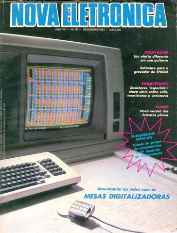 2ece7d84882 NOVA ELETRÔNICA nº 94 - Dezembro 1984 by Eng. Roberto Carlos ...