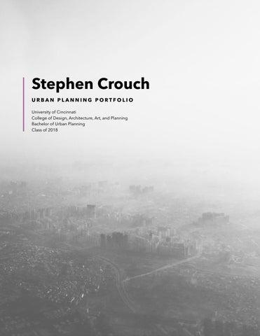Urban Planning Portfolio   Stephen Crouch by Stephen Crouch - issuu