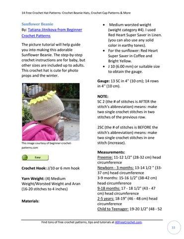f51afc5e7ce 14 free crochet hat patterns crochet beanie hats crochet cap ...