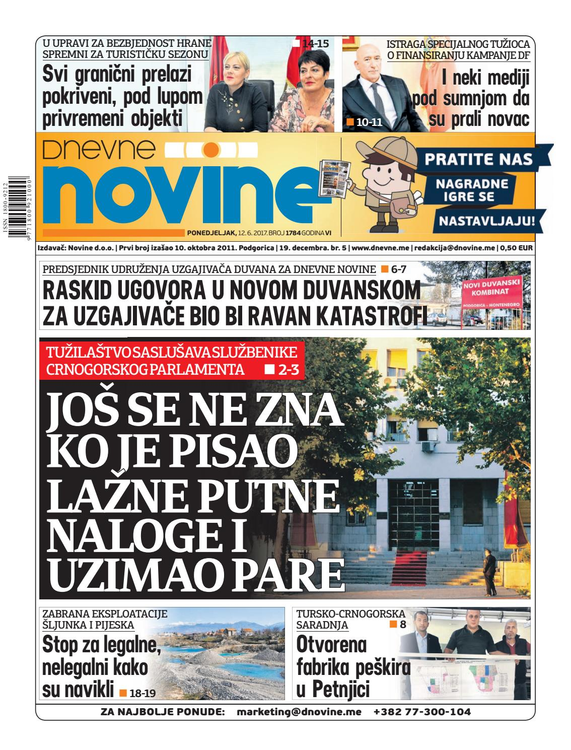 54eaceaec78 Dnevne novine 12. jun 2017. by Dnevne Novine - issuu