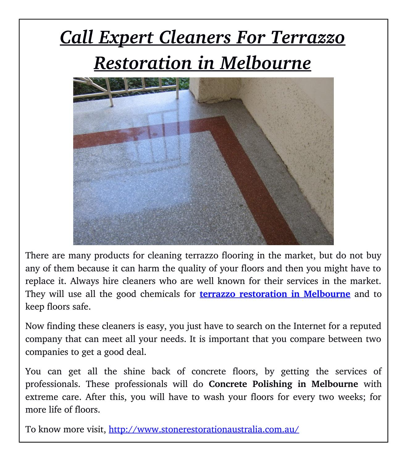 Call Expert Cleaners For Terrazzo Restoration In Melbourne