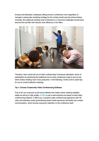 Top 5 Tips for Running Effective Meetings by ezTalks - issuu