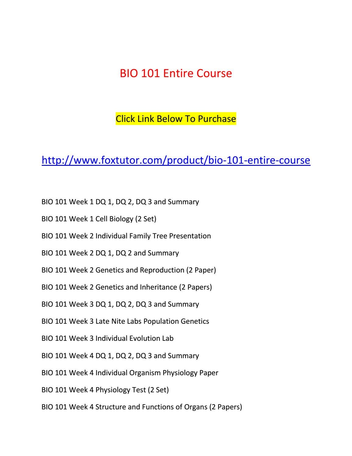 Bio 101 all assignments by bio101ft - issuu