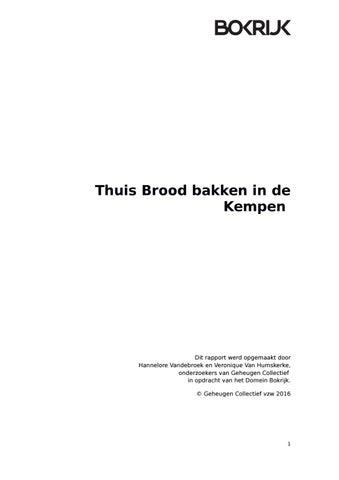 Overzicht Merktekens Aardewerk.Thuis Brood Bakken In De Kempen By Bokrijk Issuu