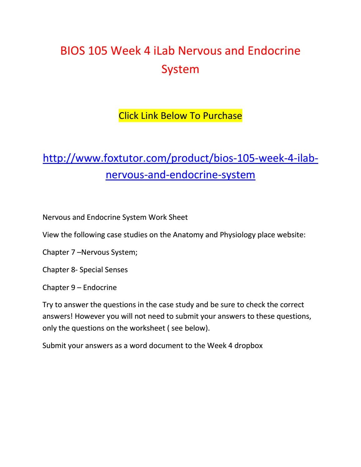Bios 105 week 4 ilab nervous and endocrine system by bios105ft - issuu