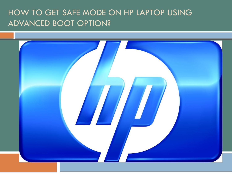 hp laptop safe mode