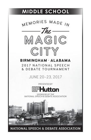 2017 Tournament Book By Speech Debate Issuu