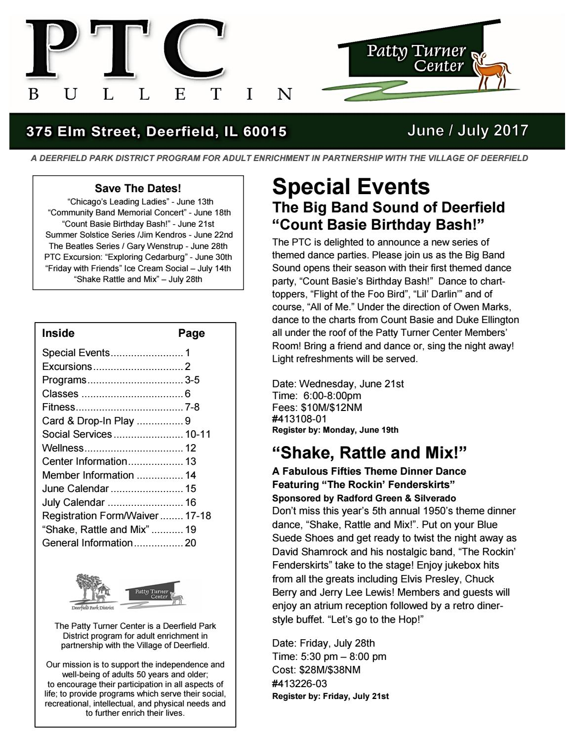 2017 June and July PTC Bulletin by Deerfield Park District