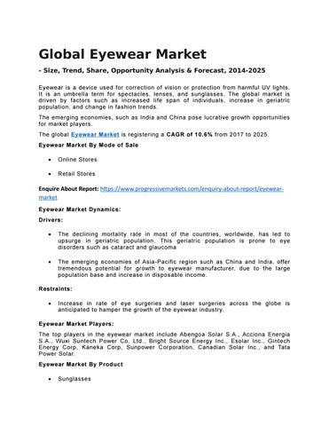 a4b6809a22 eyewear market (eyeglass frames industry