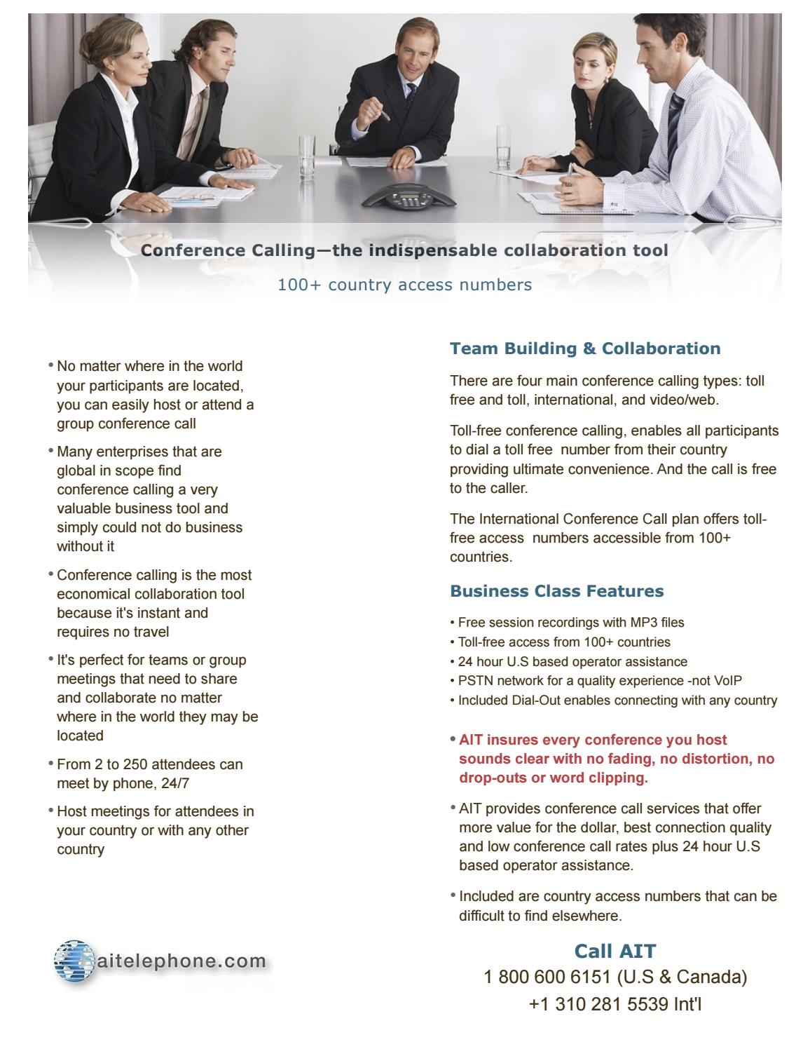 International Conference Call Service by aitelephoneseo - issuu