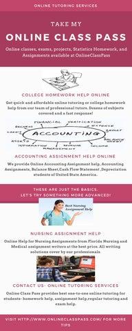9411b521f130 College homework help online by onlineclasspass - issuu