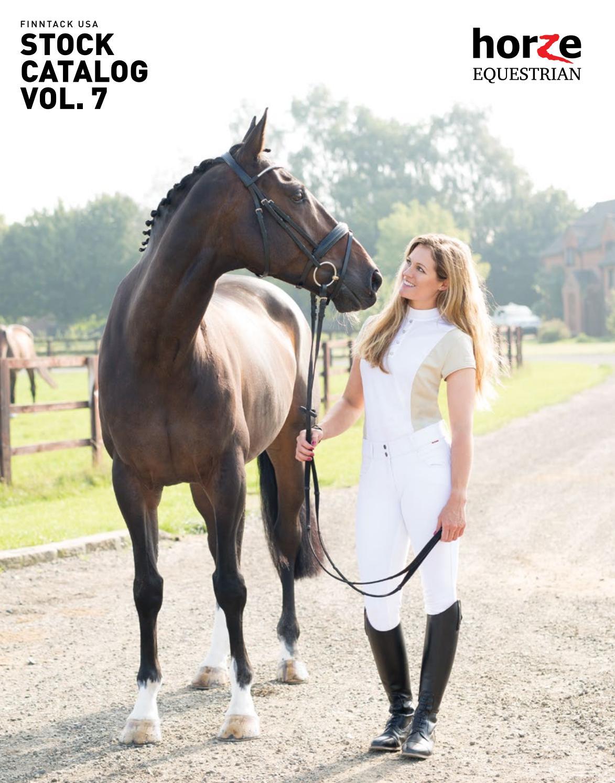 Horze Black-and-White Dressage Whip