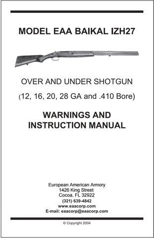 IZH27 / SPR310 / MP310 Shotgun by EAA Corp - issuu