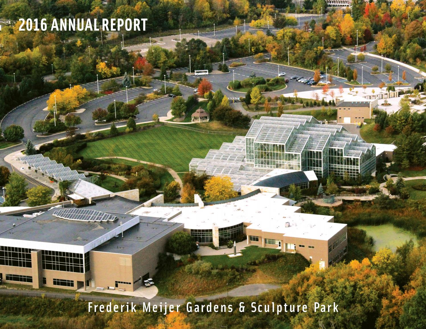2016 annual report frederik meijer gardens sculpture - Frederik meijer gardens and sculpture park ...