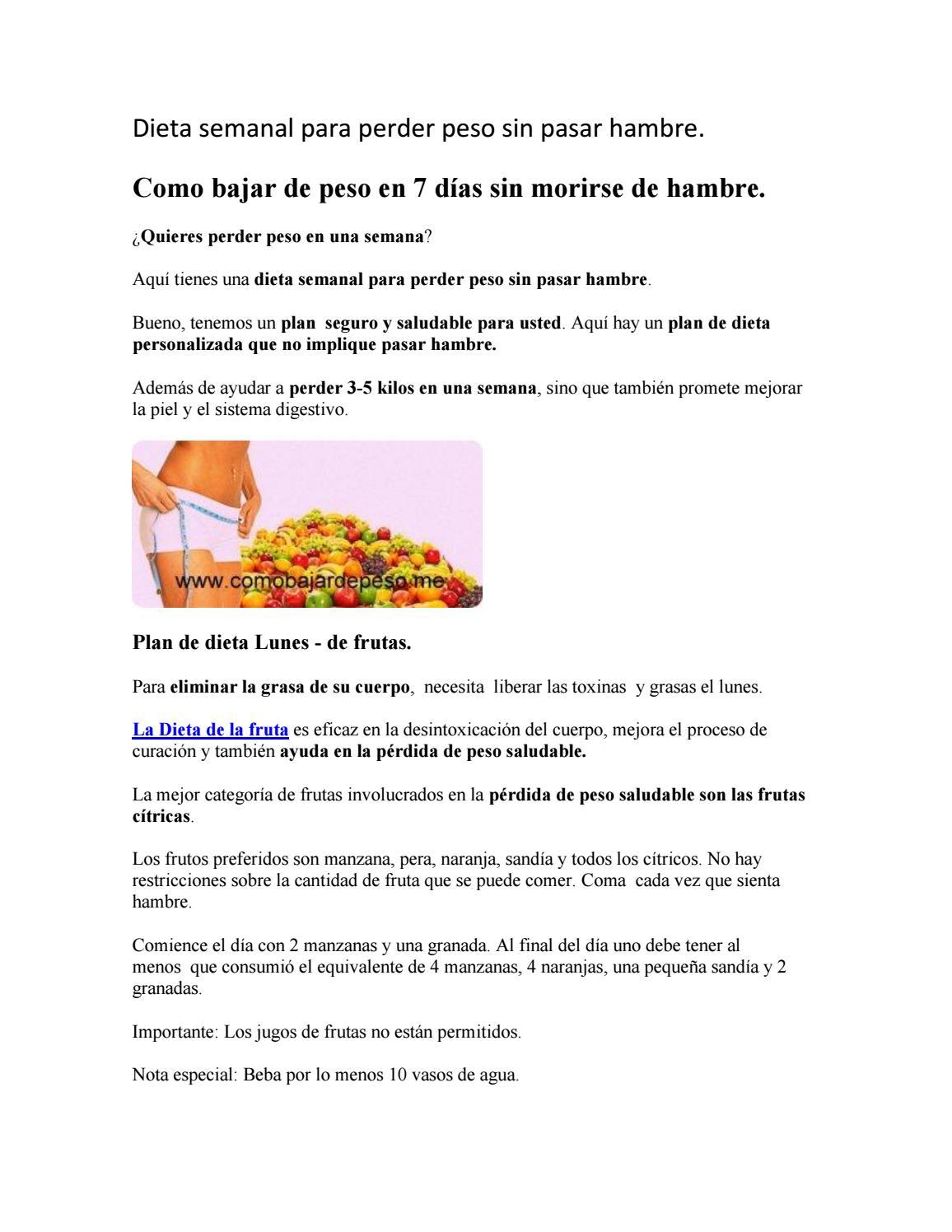 Cómo perder peso sin morir de hambre