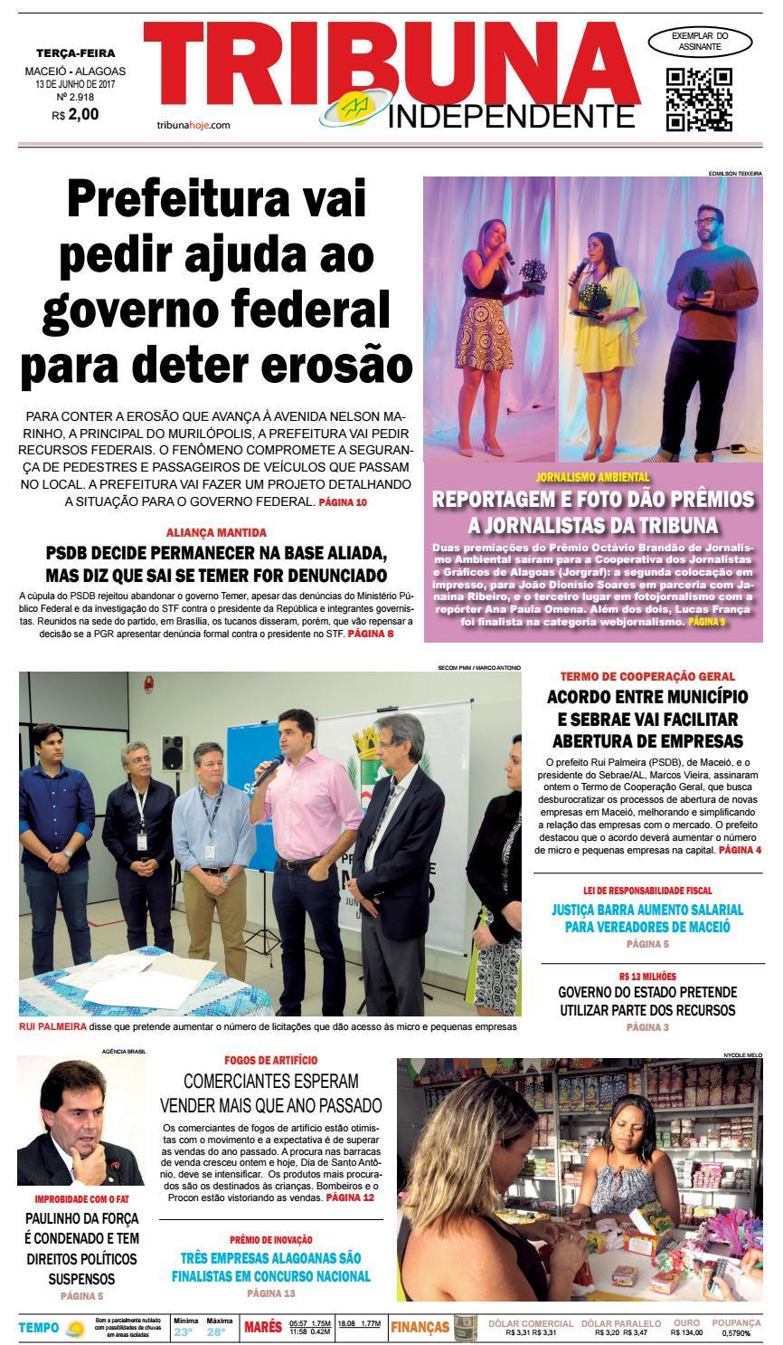 Edição número 2918 - 13 de junho de 2017 by Tribuna Hoje - issuu 497852ee9634a