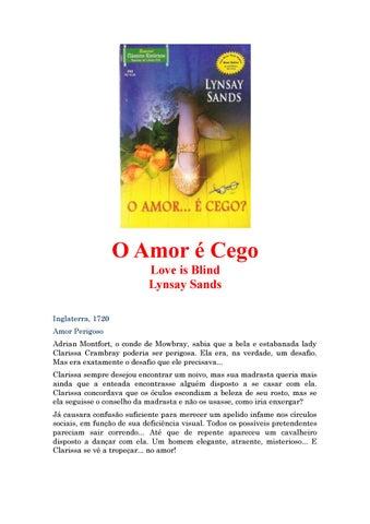 93a0d3da4aa O Amor é Cego Love is Blind Lynsay Sands Inglaterra