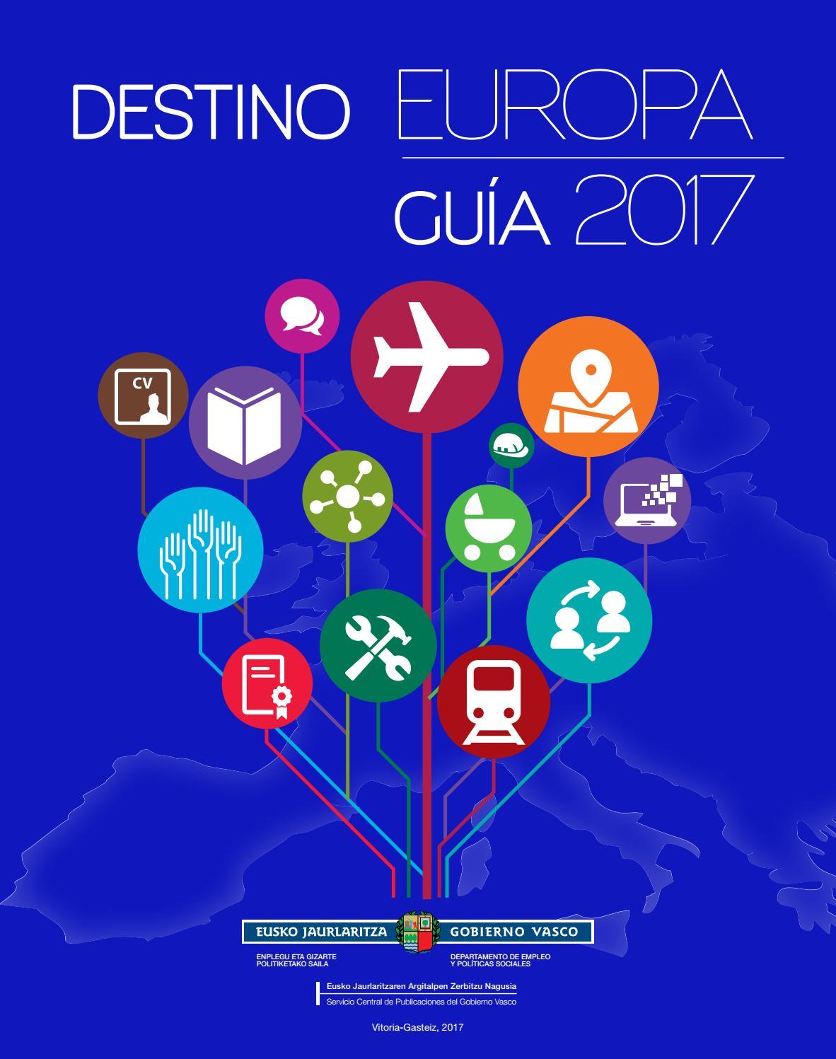 Guía \'Destino Europa\' 2017 by Gazteaukera Gazteria Zuzendaritza ...