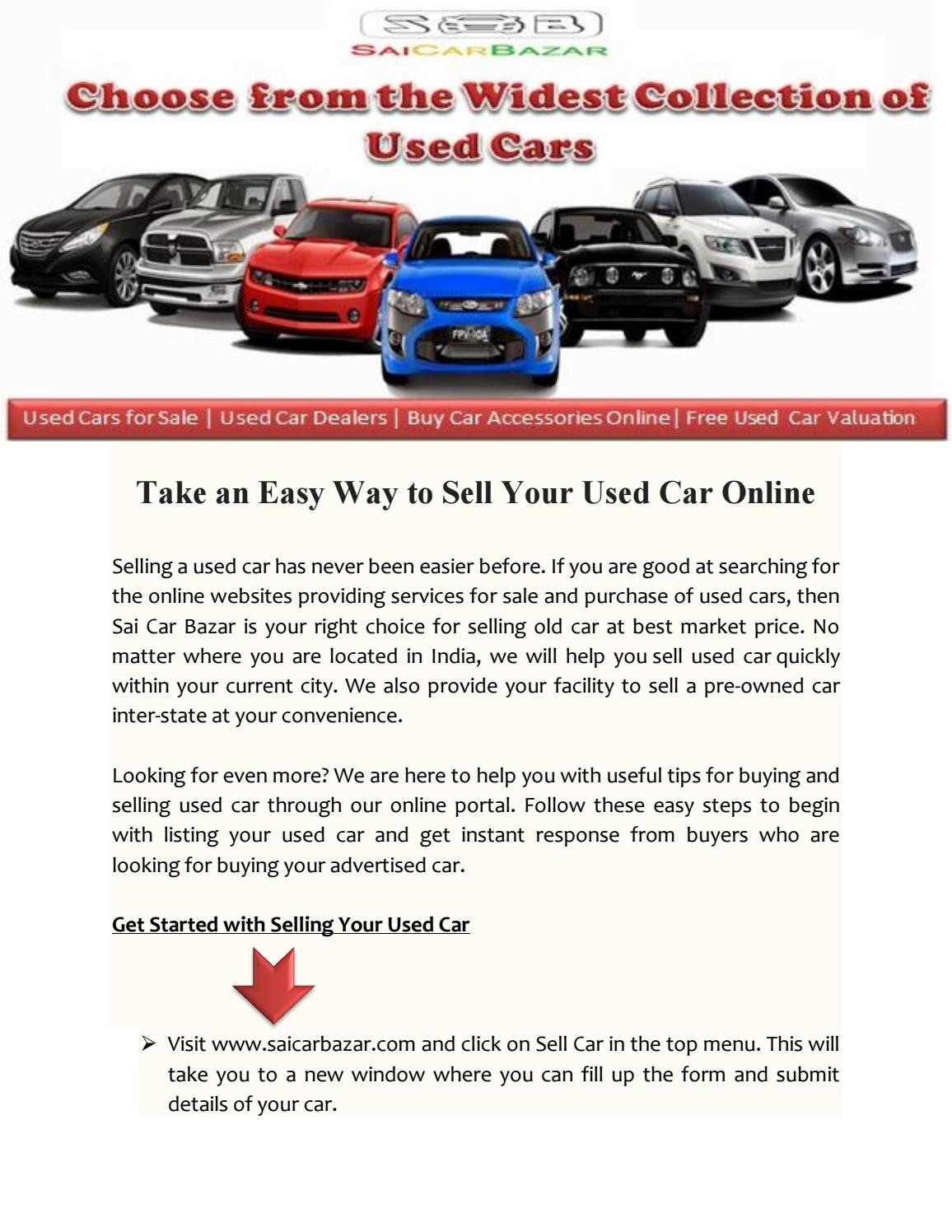 Sell Your Used Car Online by saicarbazar - issuu
