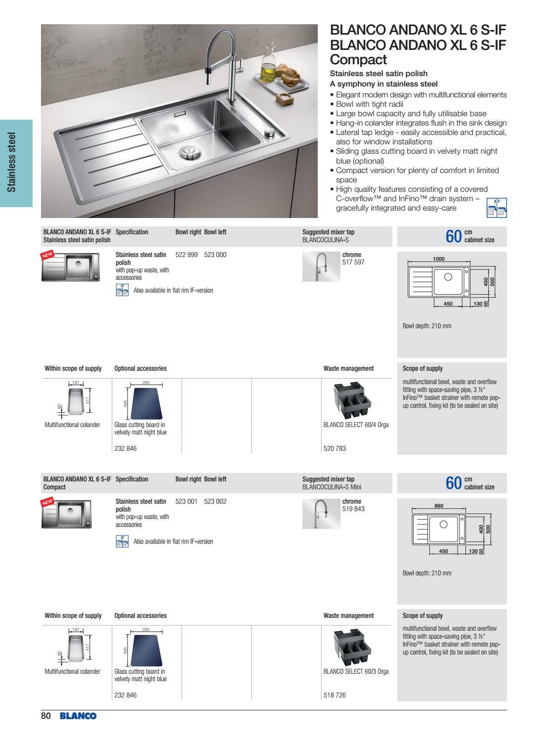 Blanco Select 60//4 orga 520783