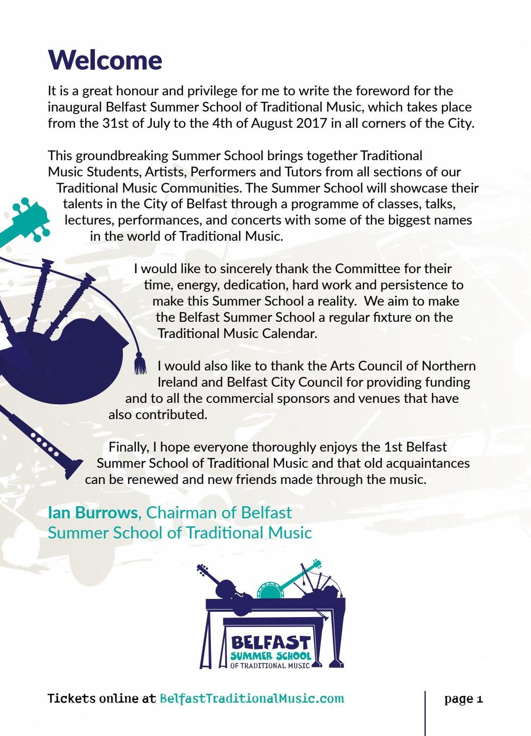 Belfast Summer School of Traditional Music by Nerve Centre