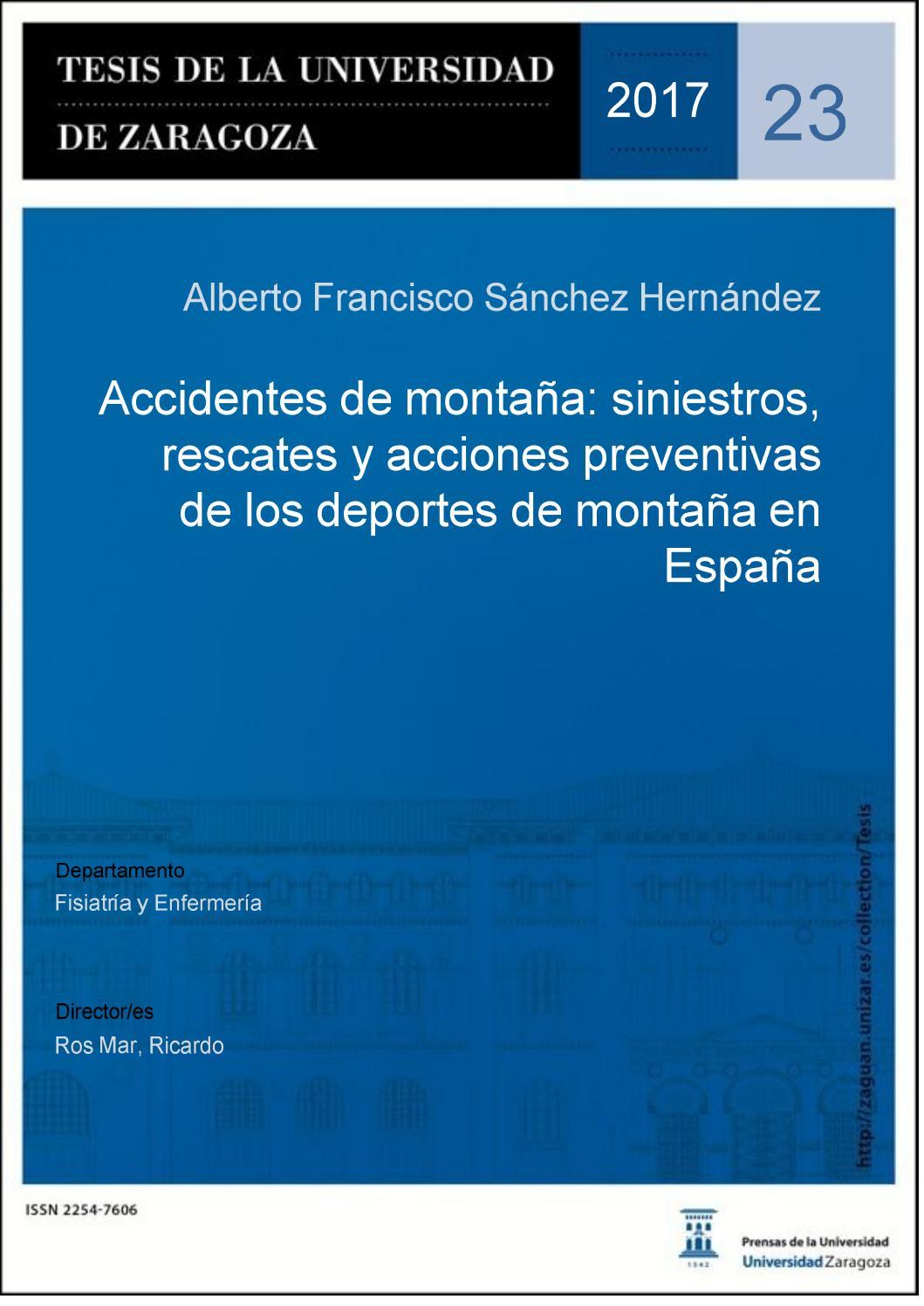 Accidentes de montaña: siniestros, rescates y acciones preventivas ...