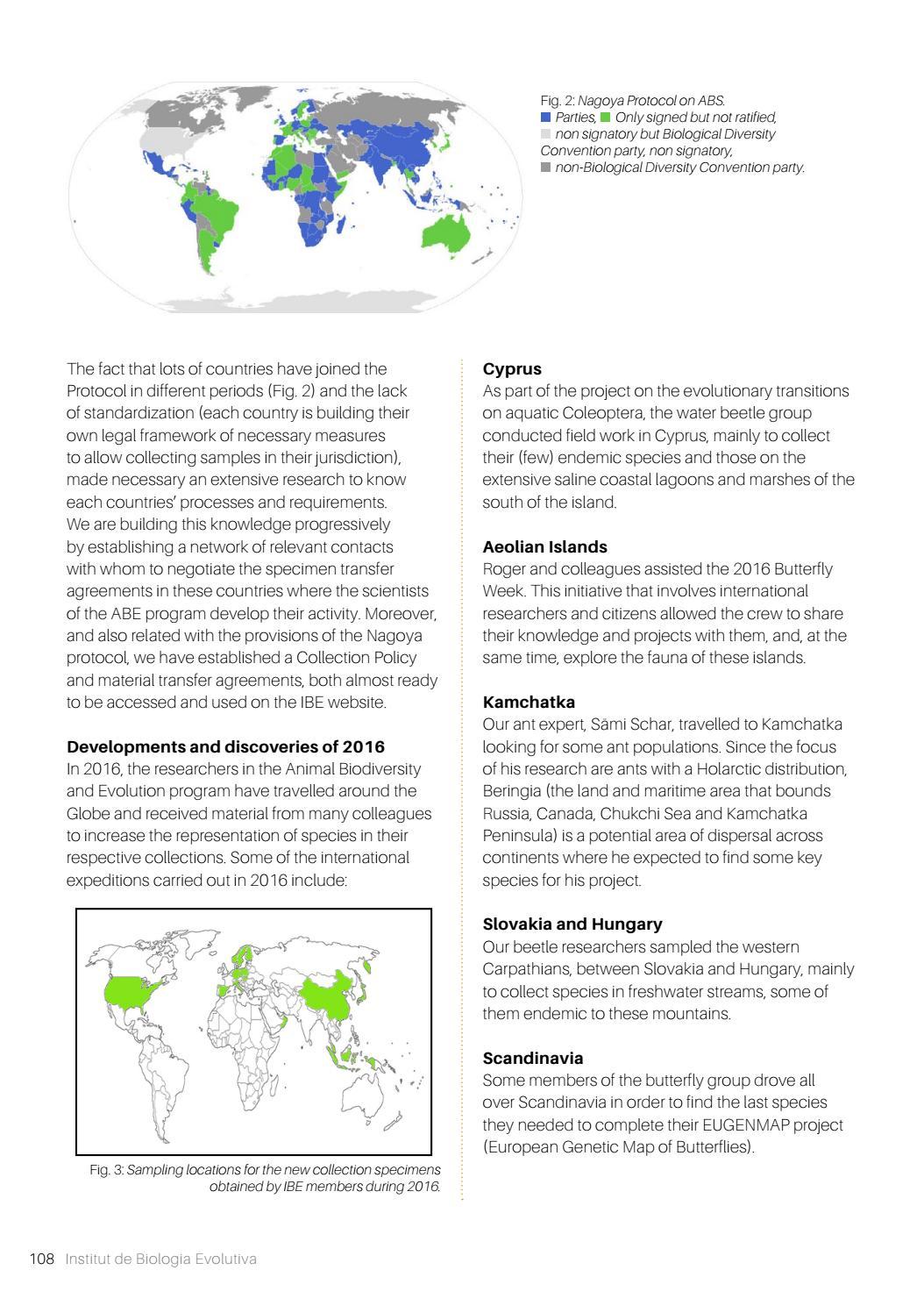IBE annual report 2016 by Institut de Biologia Evolutiva - issuu
