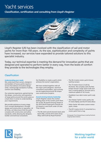 Yacht services by Lloyd's Register - issuu