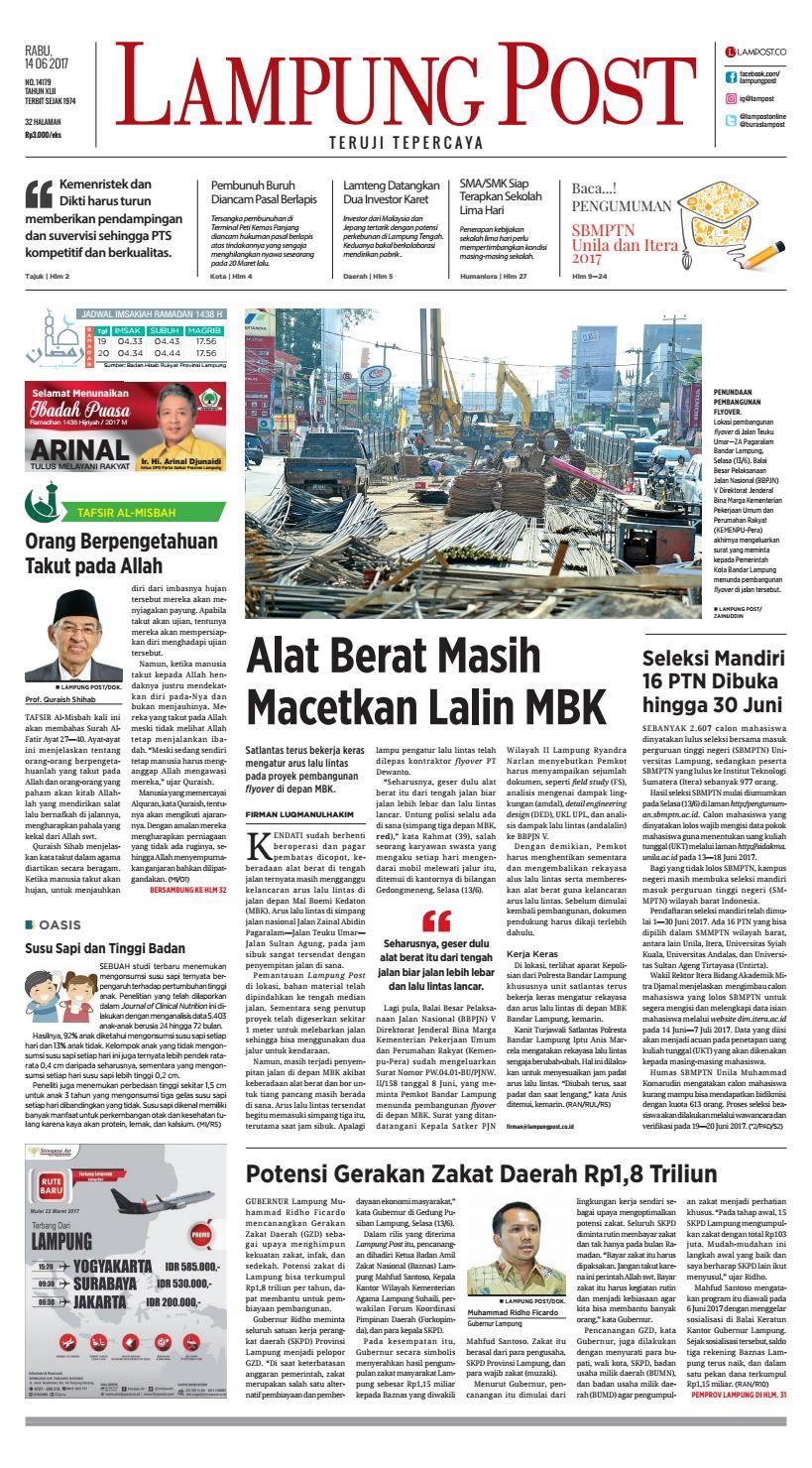Lampung Post Rabu 14 Juni 2017 By Issuu Kue Ulat Sutra Febby Cookies Pal