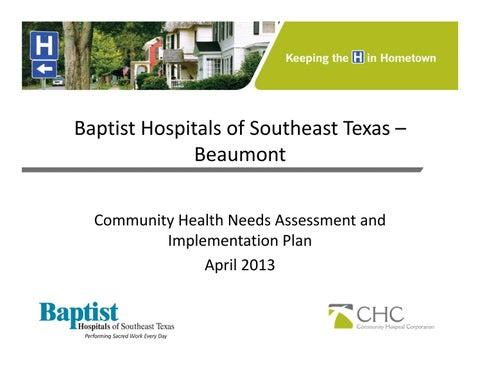 chna implement 2013 baptist orange hospital by texas health