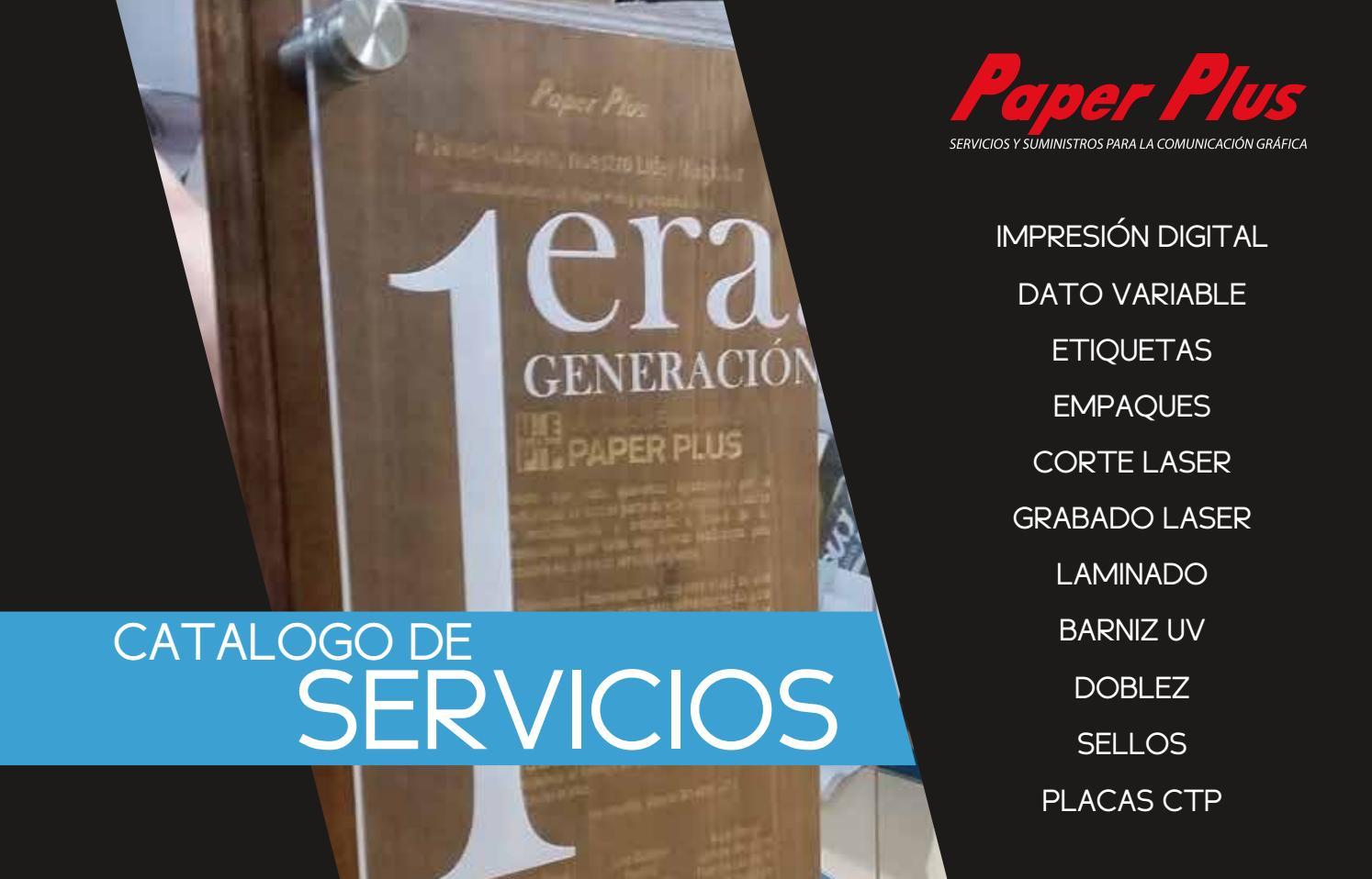 CATALOGO SERVICIOS PAPER PLUS by Paper Plus - issuu