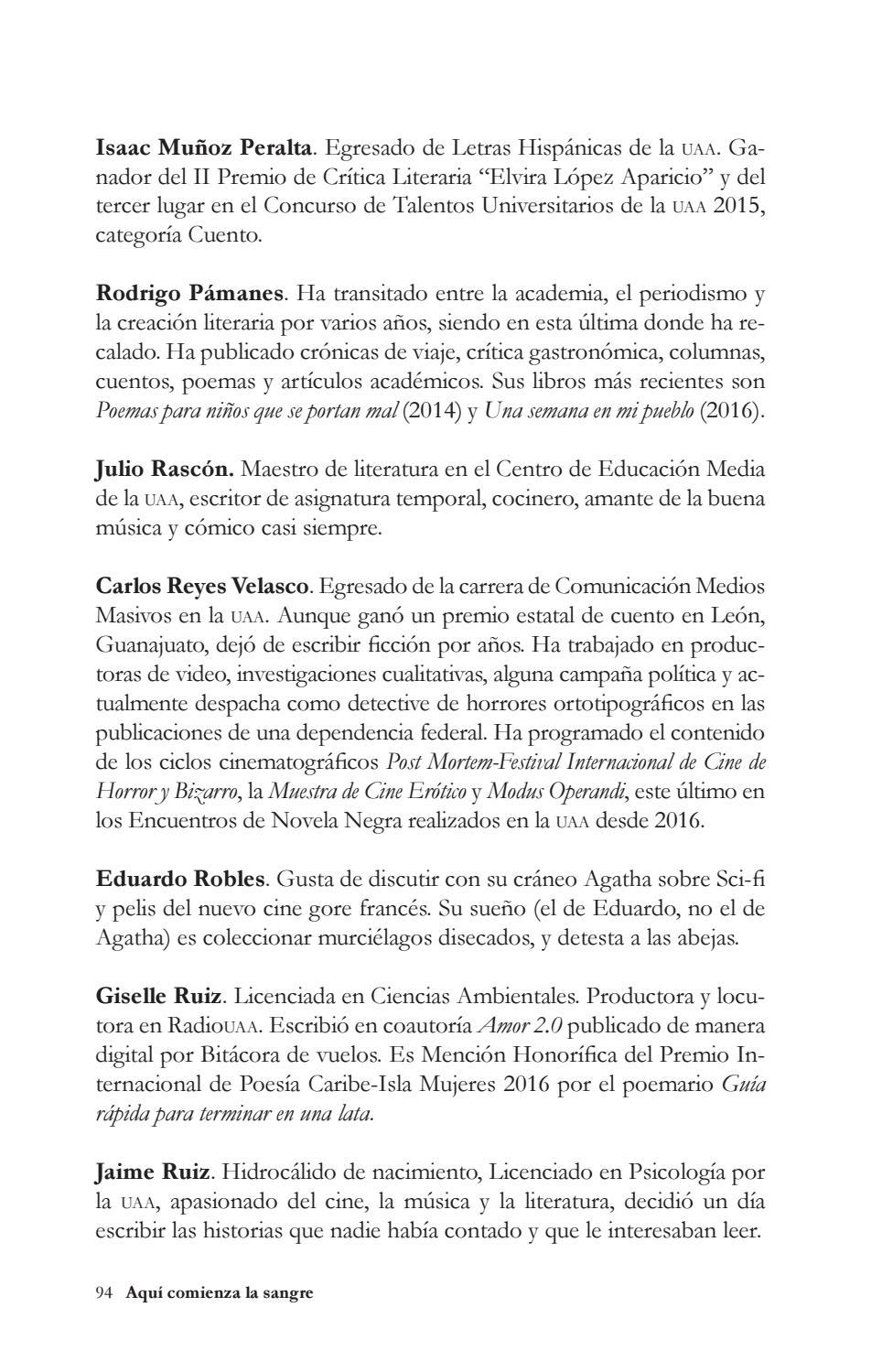Aquí Comienza La Sangre Relatos Criminales De Aguascalientes By