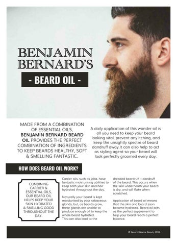 Product Brochure Design for Beard oil by TheKKEdit - issuu
