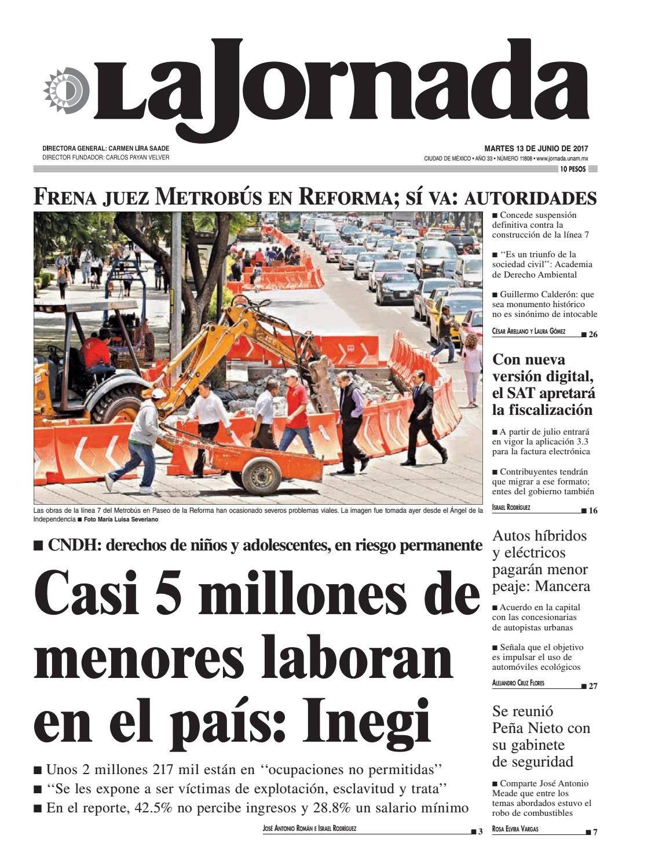 La Jornada 06 13 2017 By La Jornada Demos Desarrollo De Medios  # Vacantes Muebles Dico Guadalajara