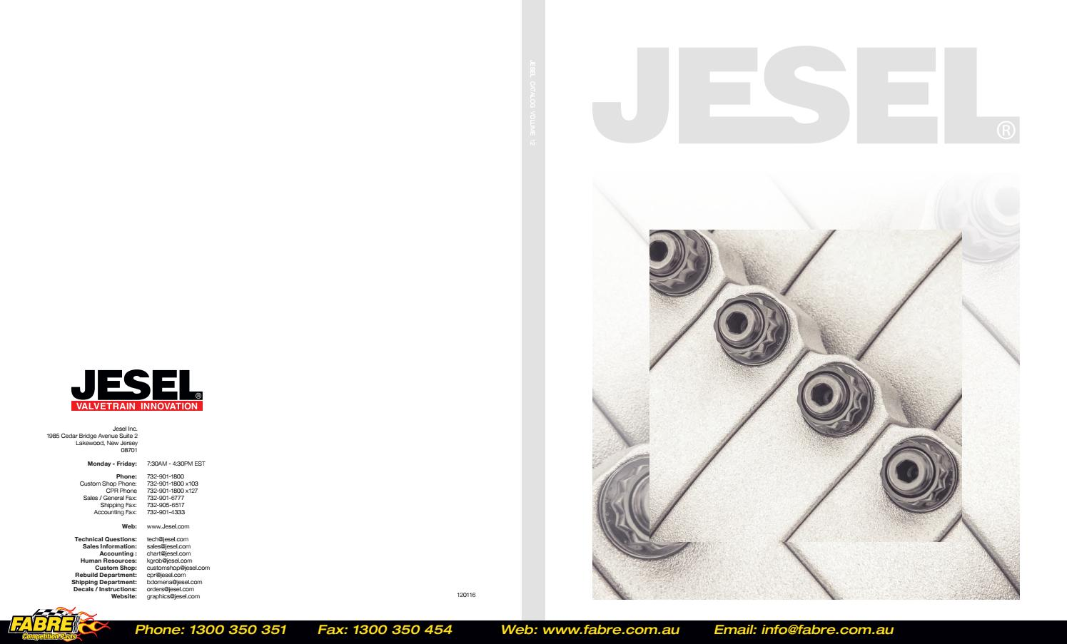 Jesel Catalog Volume 12 by Fabre Australia - issuu