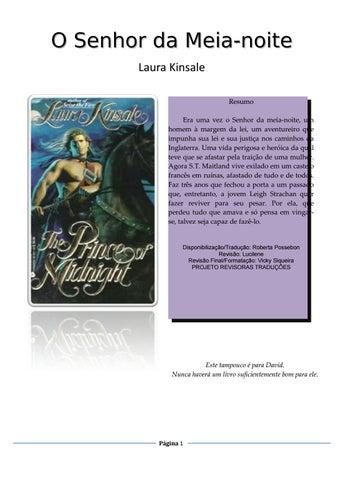 O Senhor da Meia-noite Laura Kinsale Resumo Era uma vez o Senhor da  meia-noite 07597e658fe
