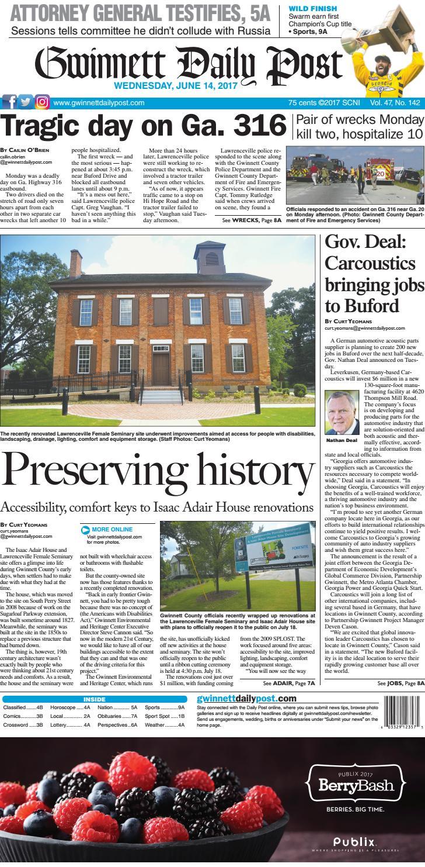 June 14 2017 Gwinnett Daily Post By Gwinnett Daily Post Issuu