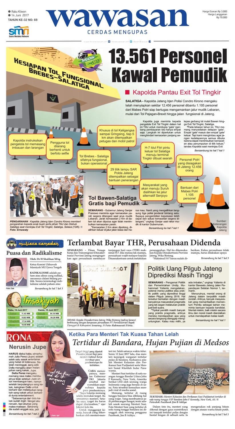 Wawasan 14 Juni 2017 By Koran Pagi Issuu Produk Ukm Bumn Batik Tulis Babon Angrem