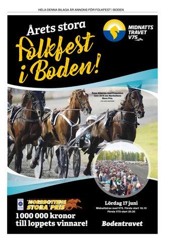 V75 - Folkfest i Boden 2017 by Norrbottens Media - issuu c13f06c50f678