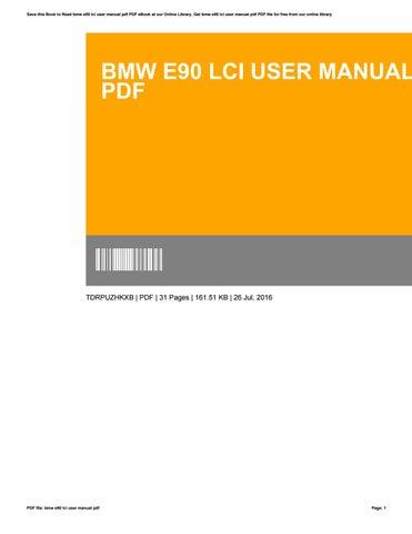 Bmw e90 lci user manual pdf by willie issuu bmw e90 lci user manual pdf sciox Gallery
