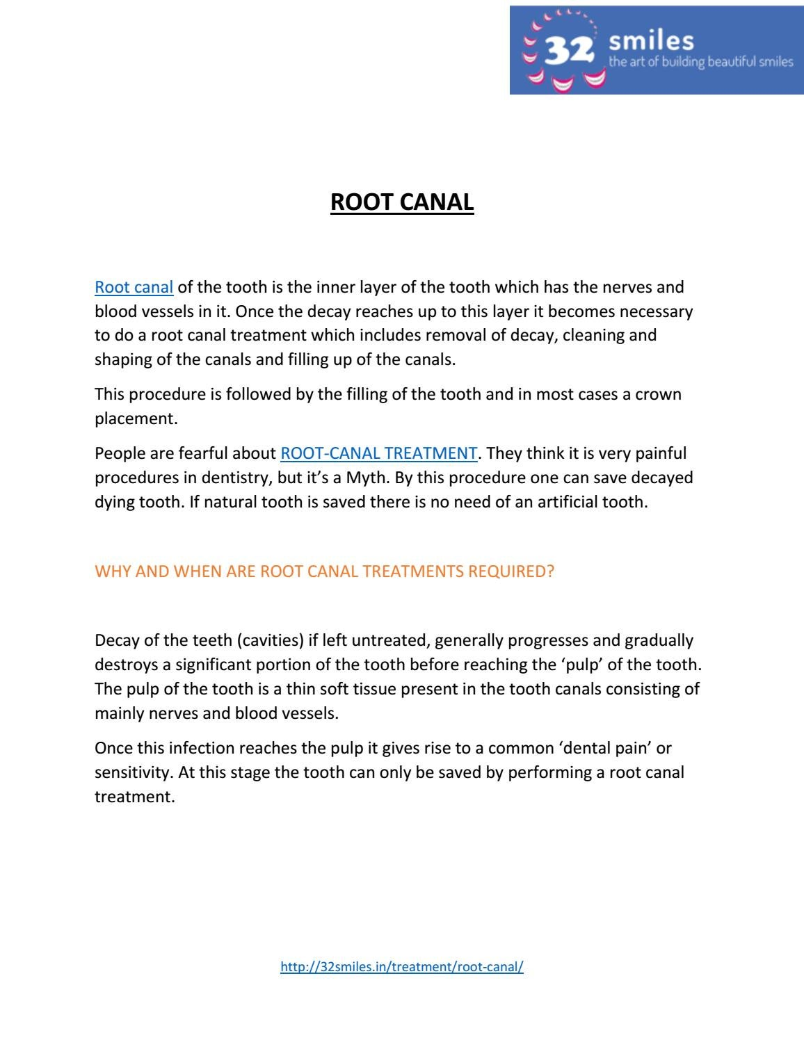 A PDF about Root Canal & its Treatment by 32smile - issuu