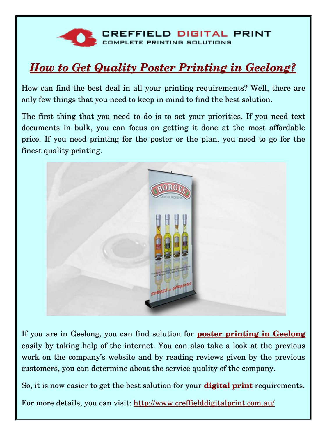 Best Poster Printing Website
