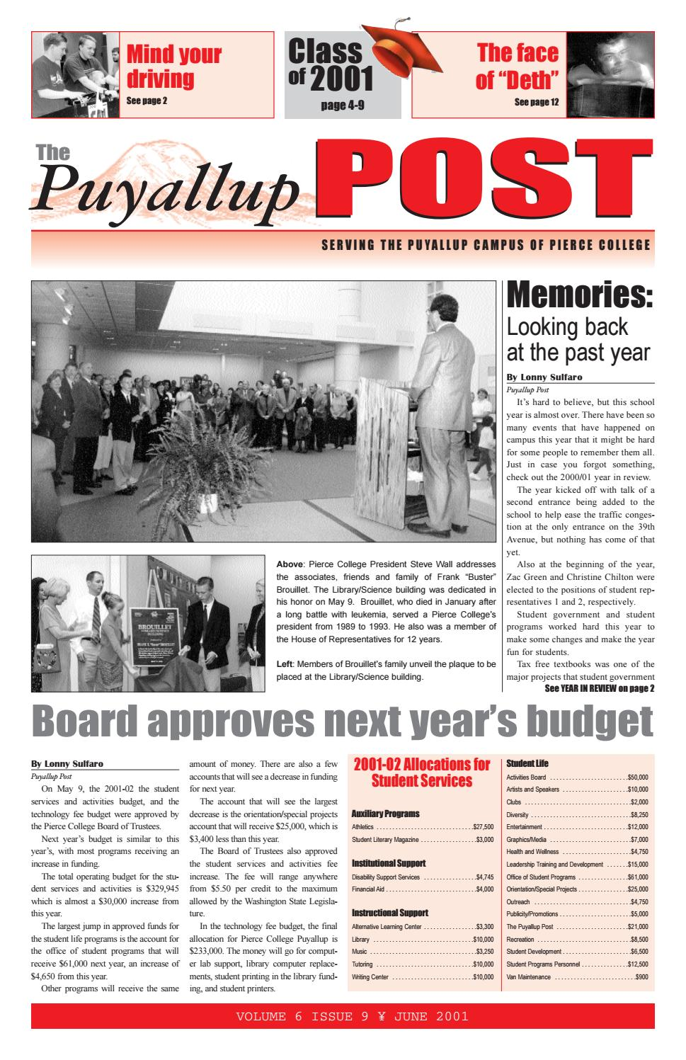 The Puyallup Post  Volume 6  Issue 9  June 2001 By The Puyallup Post   Issuu
