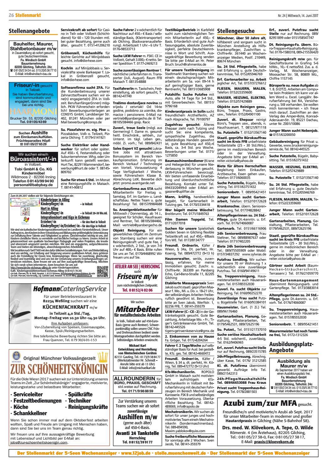 Kw 24 2017 by wochenanzeiger medien gmbh issuu for Koch gehalt netto