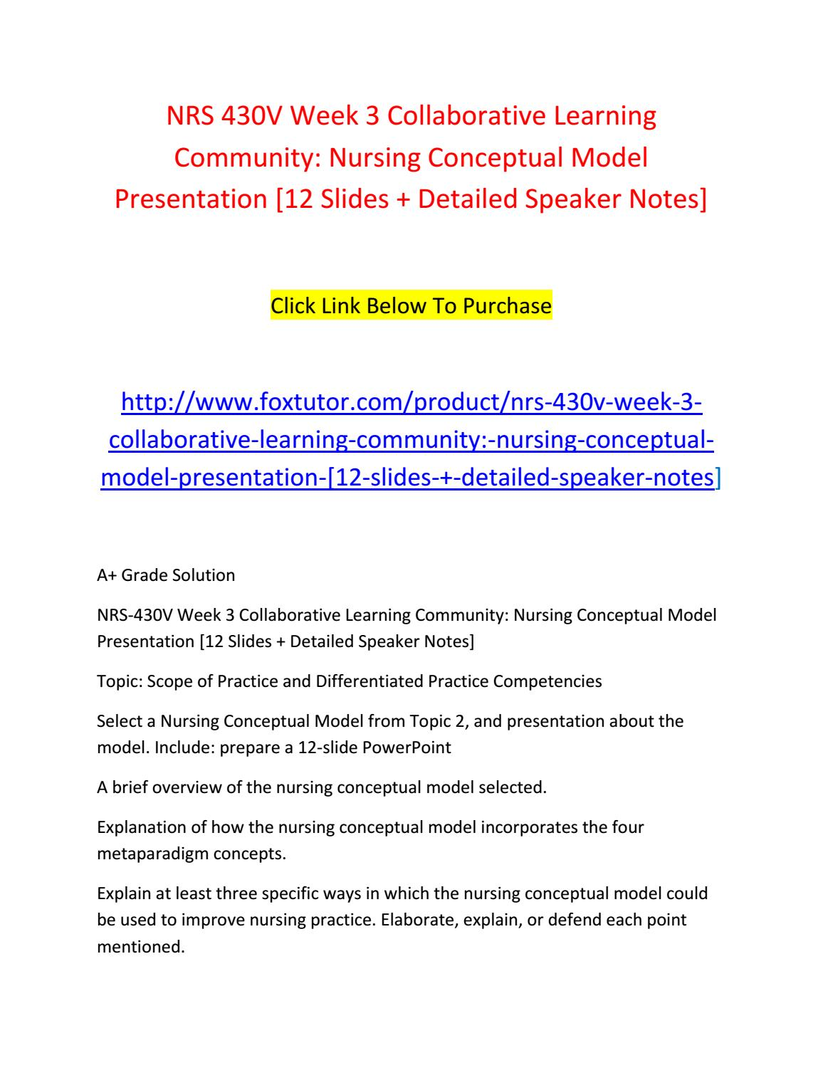 Collaborative Learning In Nursing Classroom ~ Nrs v week collaborative learning community nursing