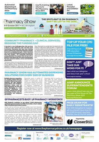 Pharmacy Show September 2012 Newspaper by CloserStill Media - issuu