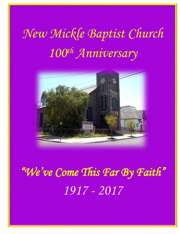 new mickle baptist church ad booklet 100th anniversary by yss