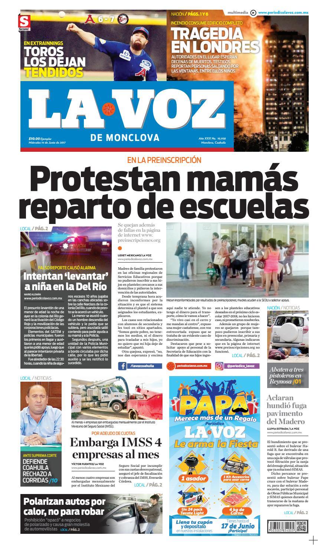 Periódico La Voz 14 de Junio by LA VOZ Monclova - issuu