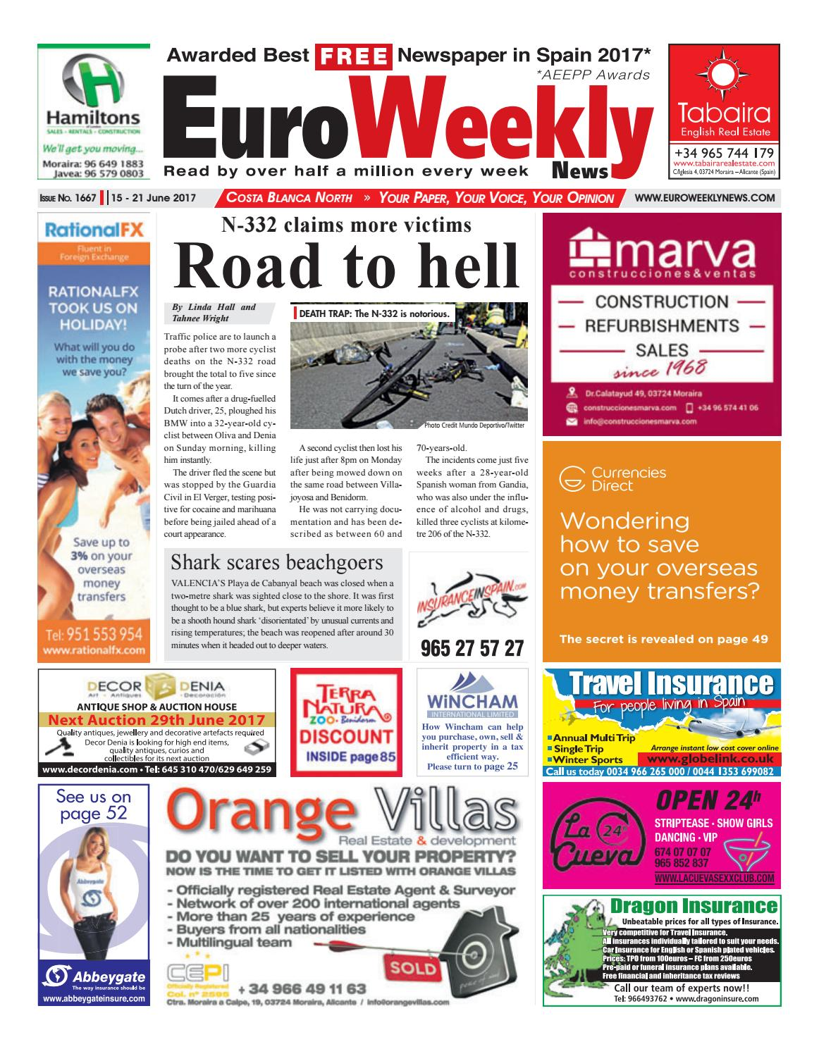 e4137f6b8e3 Euro Weekly News - Costa Blanca North 15 - 21 June 2017 Issue 1667 by Euro  Weekly News Media S.A. - issuu